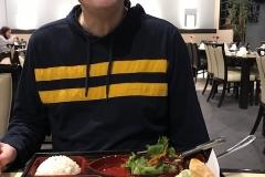 Blaine having lunch at Wabora Feb 2019