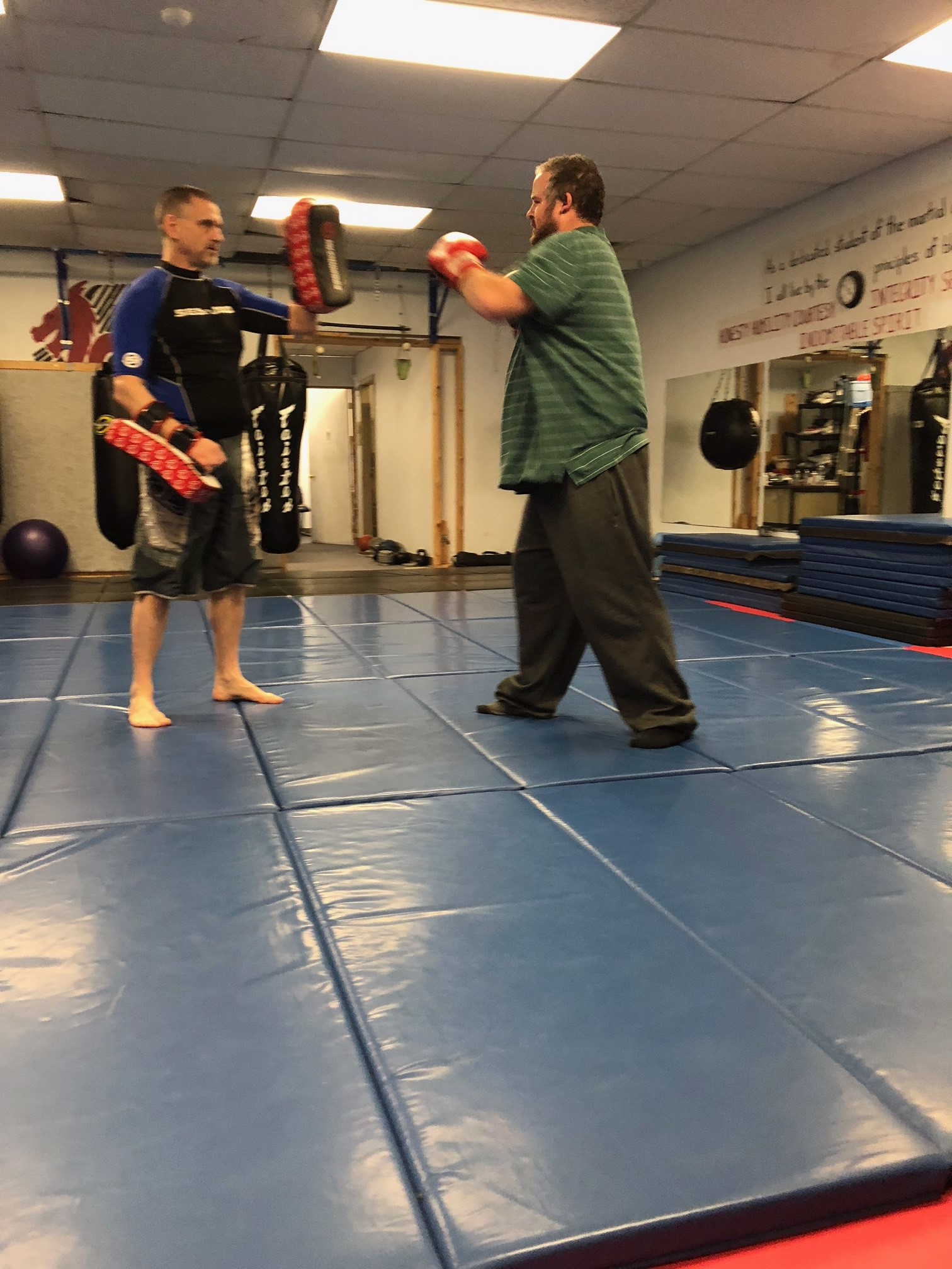 Josh at Kickboxing Jan 2019