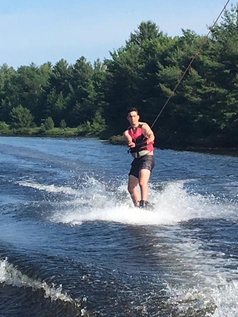 Skylar & Andrew wakeboarding July 2019 2