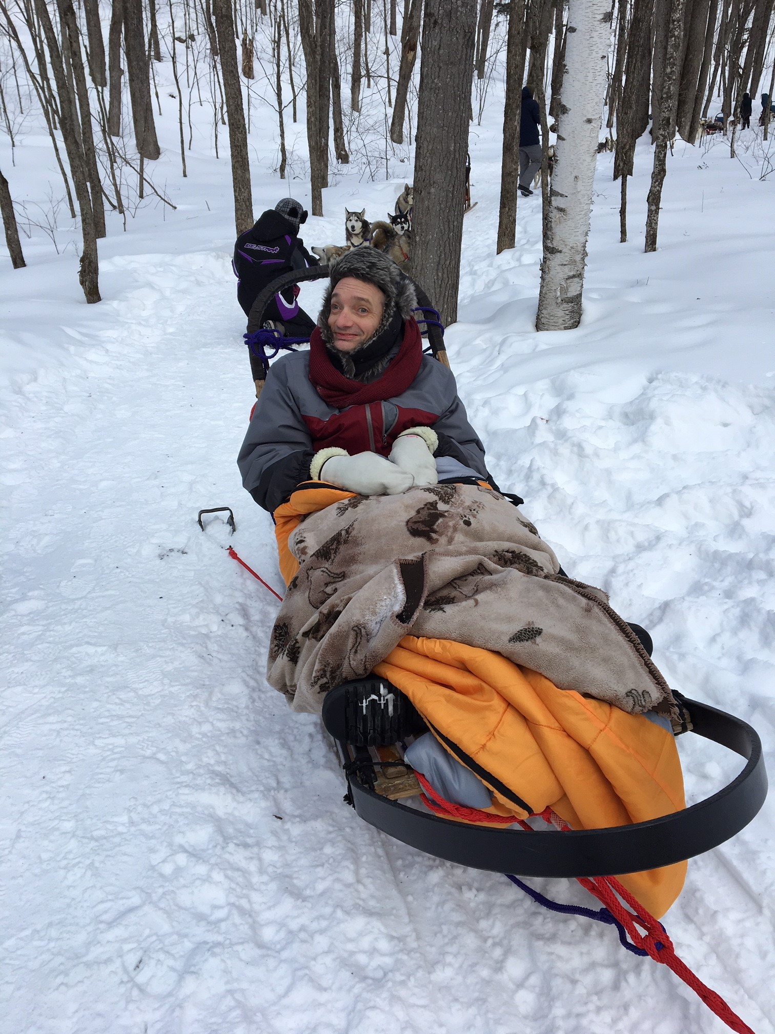 Doug and Mitch Dog sledding March 2019