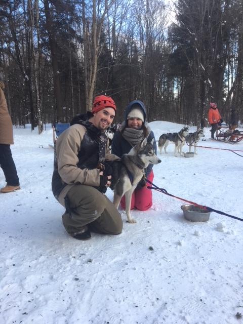 Skylar & Sara Dog sleding 8