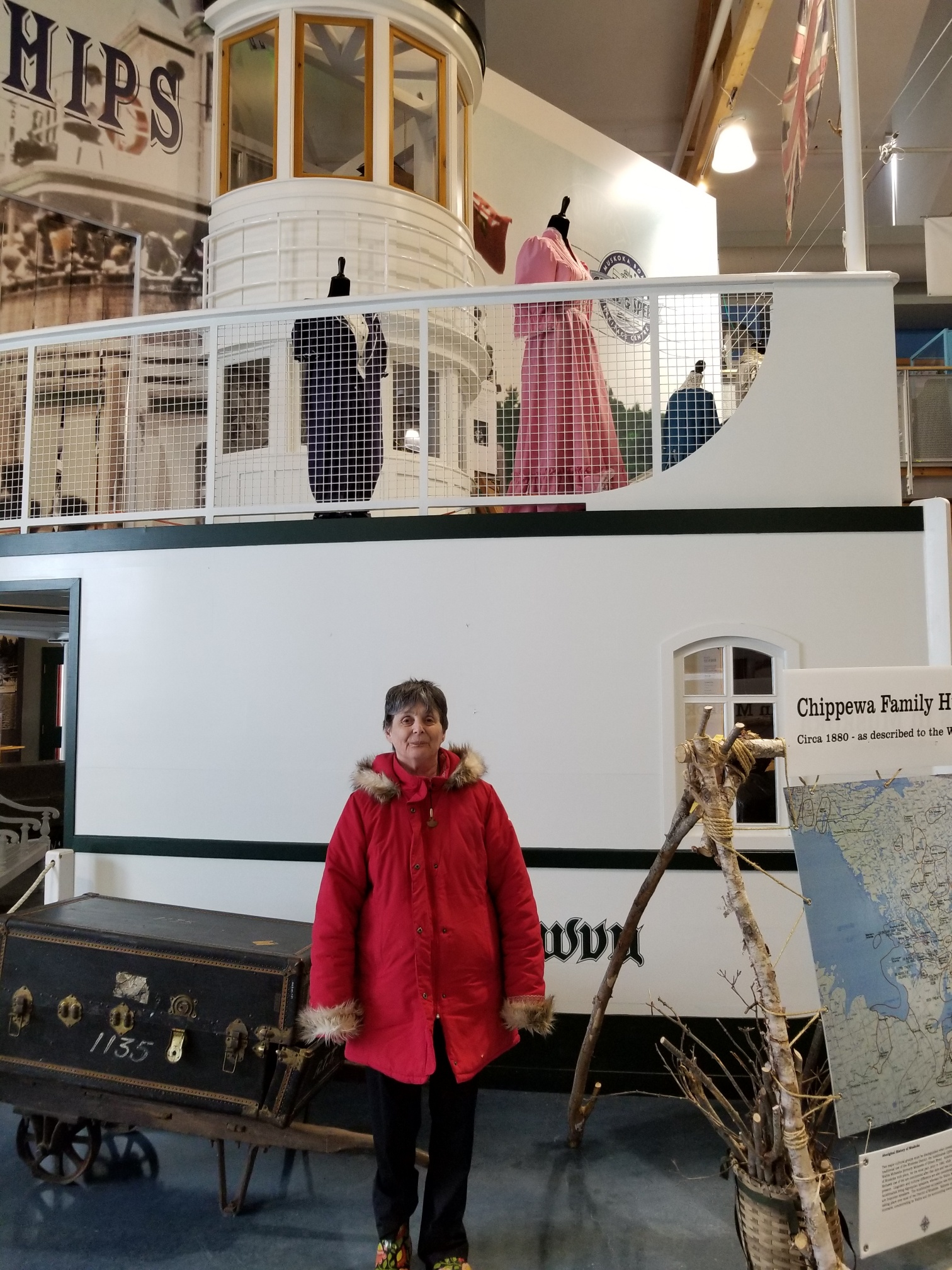 Vicky at Steamship Museum 3