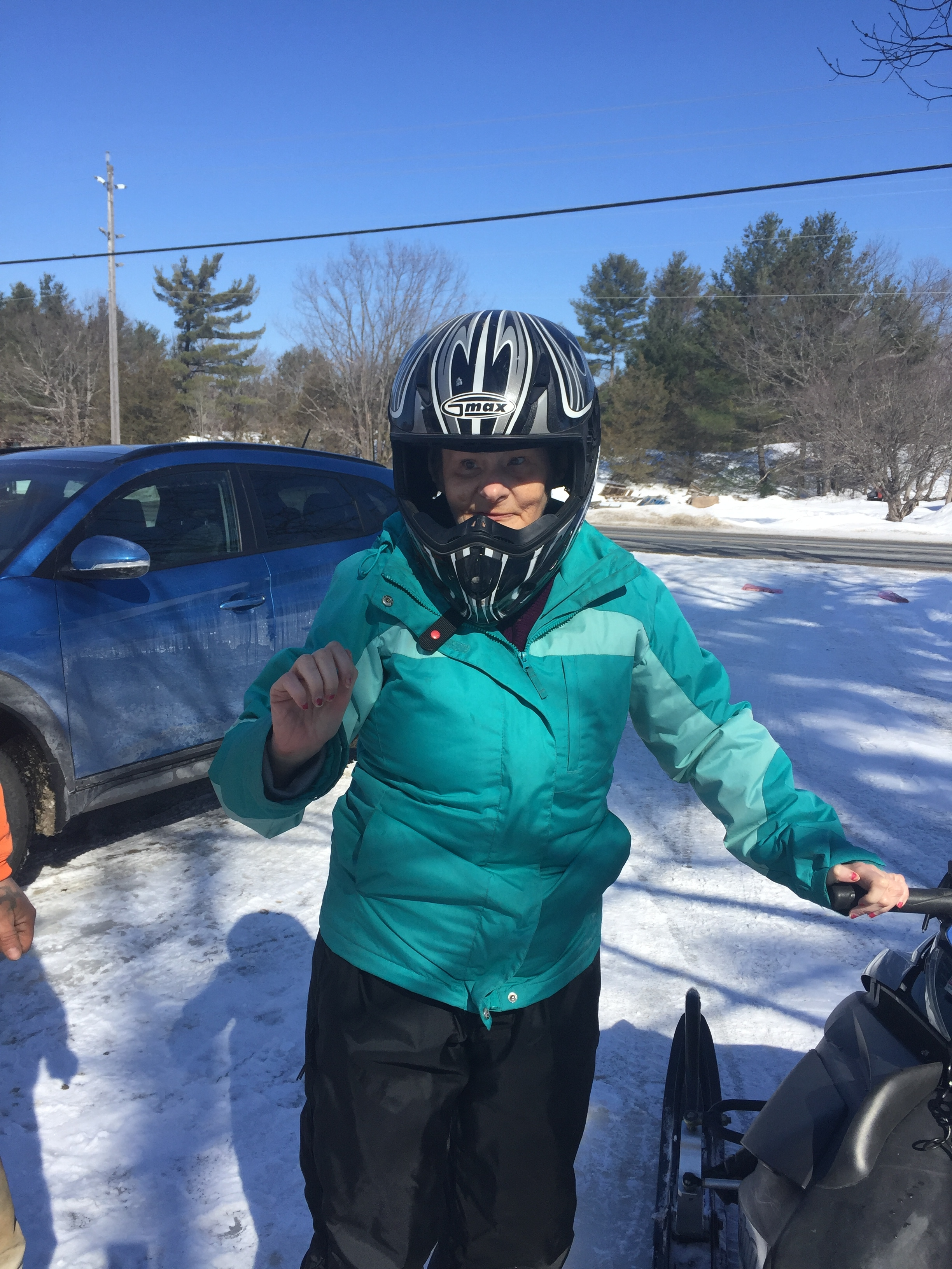 Yvonne Skidooing March 2019