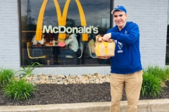 Blaine at McDonalds for Mayors charity Choice week