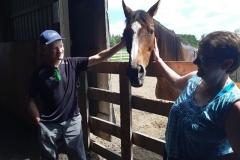 Karen & Patrick with Horses June 2019