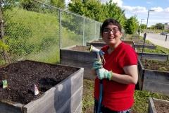 Laura at Community Garden June 2019 3