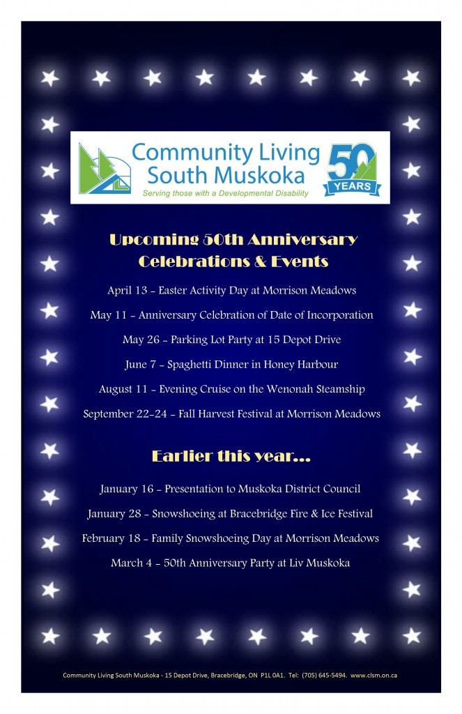 Anniversary Events Poster
