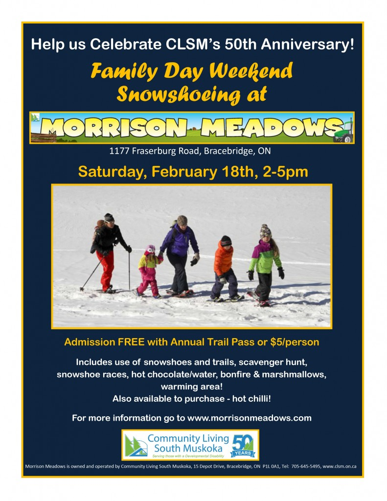Family day snowshoeing